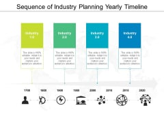 Sequence Of Industry Planning Yearly Timeline Ppt PowerPoint Presentation File Microsoft PDF