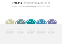 Sequential Years Timeline For Business Planning Powerpoint Slides