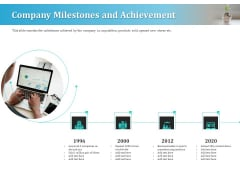 Series A Funding For Start Up Company Milestones And Achievement Microsoft PDF