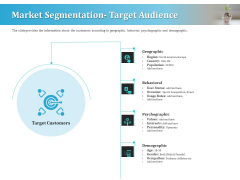 Series A Funding For Start Up Market Segmentation Target Audience Summary PDF