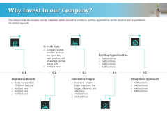 Series A Funding For Start Up Why Invest In Our Company Brochure PDF