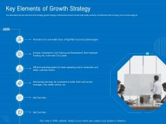 Series B Funding For Startup Capitalization Key Elements Of Growth Strategy Clipart PDF
