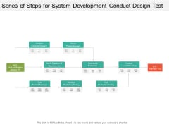Series Of Steps For System Development Conduct Design Test Ppt PowerPoint Presentation Portfolio File Formats