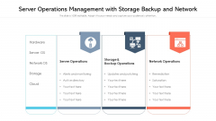 Server Operations Management With Storage Backup And Network Ppt Professional Backgrounds PDF
