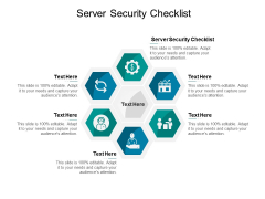 Server Security Checklist Ppt PowerPoint Presentation Layouts Background Designs Cpb Pdf