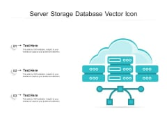 Server Storage Database Vector Icon Ppt PowerPoint Presentation Gallery Good PDF