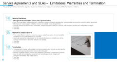 Service Agreements And SLAS Limitations Warranties And Termination Ppt File Graphics Example PDF
