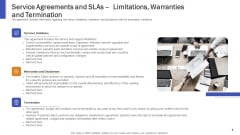 Service Agreements And Slas Limitations Warranties And Termination Ppt Graphics PDF