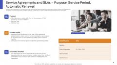 Service Agreements And Slas Purpose Service Period Automatic Renewal Ppt Portfolio Grid PDF
