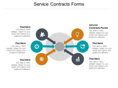 Service Contracts Forms Ppt PowerPoint Presentation Inspiration Ideas Cpb