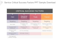 Service Critical Success Factors Ppt Sample Download