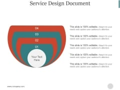 Service Design Document Slide Ppt PowerPoint Presentation Sample