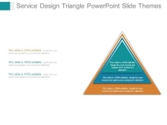 Service Design Triangle Powerpoint Slide Themes