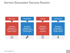 Service Encounter Success Factors Ppt PowerPoint Presentation Examples