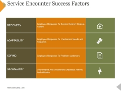 Service Encounter Success Factors Ppt PowerPoint Presentation File Infographic Template