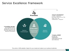 service excellence framework ppt powerpoint presentation infographic template files