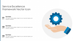 Service Excellence Framework Vector Icon Ppt PowerPoint Presentation Layouts Slideshow PDF