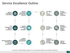 Service Excellence Outline Ppt Powerpoint Presentation Portfolio Rules