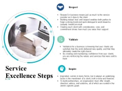 Service Excellence Steps Business Ppt Powerpoint Presentation Icon