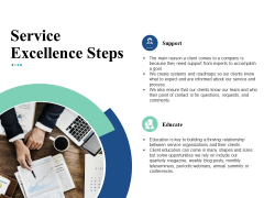 Service Excellence Steps Ppt Powerpoint Presentation Summary Graphics Download