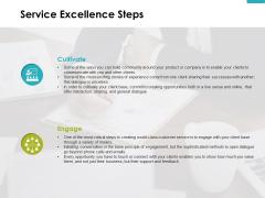 Service Excellence Steps Slide Cultivate Ppt PowerPoint Presentation Slides