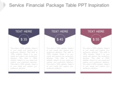 Service Financial Package Table Ppt Inspiration