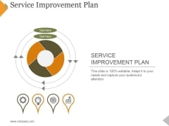 Service Improvement Plan Ppt PowerPoint Presentation Model Deck