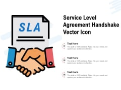 Service Level Agreement Handshake Vector Icon Ppt PowerPoint Presentation File Examples