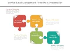 Service Level Management Powerpoint Presentation