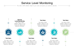Service Level Monitoring Ppt PowerPoint Presentation Ideas Template Cpb Pdf