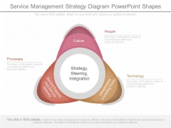 Service Management Strategy Diagram Powerpoint Shapes