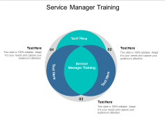 Service Manager Training Ppt PowerPoint Presentation Inspiration Designs Download Cpb