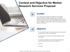 Service Market Research Context And Objective For Market Research Services Proposal Microsoft PDF