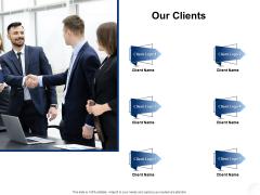 Service Market Research Our Clients Ppt Layouts Show PDF