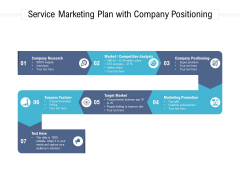 Service Marketing Plan With Company Positioning Ppt PowerPoint Presentation File Portrait PDF