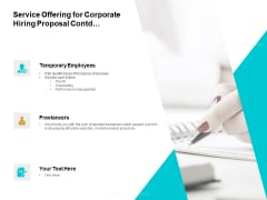 Service Offering For Corporate Hiring Proposal Contd Ppt PowerPoint Presentation Professional Objects