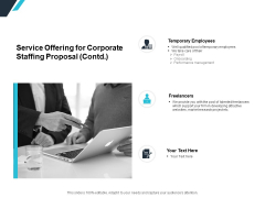 Service Offering For Corporate Staffing Proposal Contd Ppt PowerPoint Presentation Visual Aids Background Images