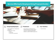 Service Offering For Employee Hiring Proposal Contd Ppt PowerPoint Presentation Icon Vector