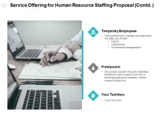 Service Offering For Human Resource Staffing Proposal Contd Ppt PowerPoint Presentation Ideas Elements