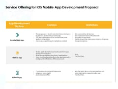 Service Offering For IOS Mobile App Development Proposal Ppt PowerPoint Presentation Layouts File Formats