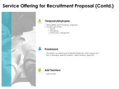 Service Offering For Recruitment Proposal Contd Ppt PowerPoint Presentation Show Gridlines