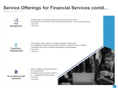 Service Offerings For Financial Services Contd Ppt PowerPoint Presentation Icon Slide