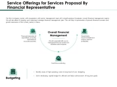 Service Offerings For Services Proposal By Financial Representative Sample PDF