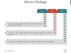 Service Package Ppt PowerPoint Presentation Summary