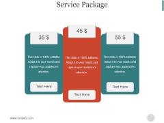 Service Package Slide Ppt PowerPoint Presentation Slide