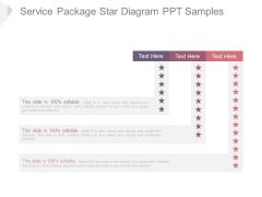 Service Package Star Diagram Ppt Samples
