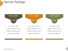 Service Package Template 1 Ppt PowerPoint Presentation Professional Topics