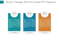 Service Package With Price Detail Ppt Diagrams