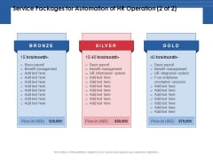 Service Packages For Automation Of HR Operation Management Ppt PowerPoint Presentation Background Images PDF