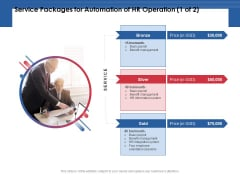 Service Packages For Automation Of HR Operation Price Ppt PowerPoint Presentation Pictures Slideshow PDF
